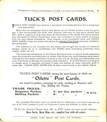 TUCK'S POST CARDS