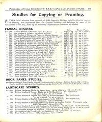 STUDIES FOR COPYING OR FRAMING