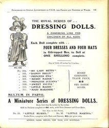 THE ROYAL SERIES OF .. DRESSING DOLLS