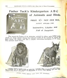 FATHER TUCK'S KINDERGARTEN ABC OF ANIMALS AND BIRDS