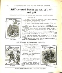 STIFF-COVERED BOOKS AT 3/6, 5/-, 6/-, and 7/6