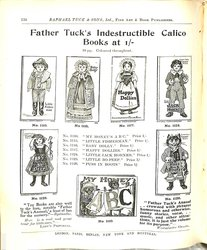 FATHER TUCK'S INDESTRUCTIBLE CALICO BOOKS AT 1/-