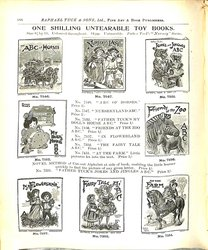 ONE SHILLING UNTEARABLE STIFF-COVERED BOOKS