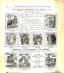 ONE SHILLING UNTEARABLE TOY BOOKS - CONTINUED