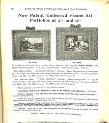 NEW PATENT EMBOSSED FRAME ART PORTFOLIOS AT 5/ AND 9/