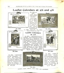 LEAFLET CALENDARS AT 2/6 AND 4/6