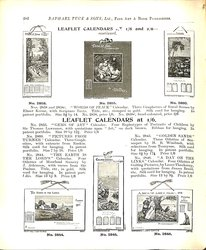 LEAFLET CALENDARS AT 1/6 AND 2/6-