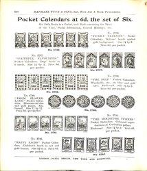 POCKET CALENDARS AT 6D. THE SET OF SIX