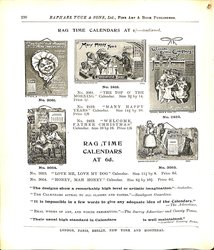 RAG TIME CALENDARS AT 1/- CONTINUED