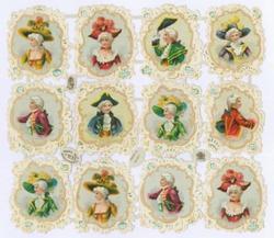 ladies and gentlemen in Victorian dress
