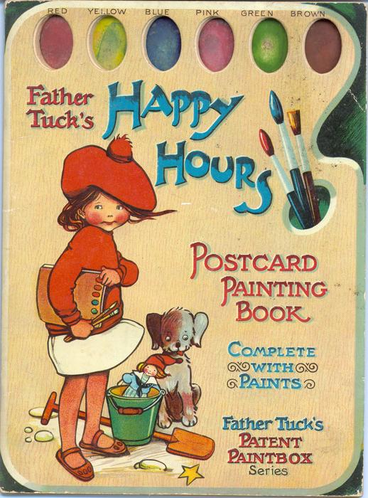 HAPPY HOURS POSTCARD PAINTING BOOK