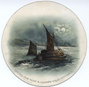 sailboat in moonlight