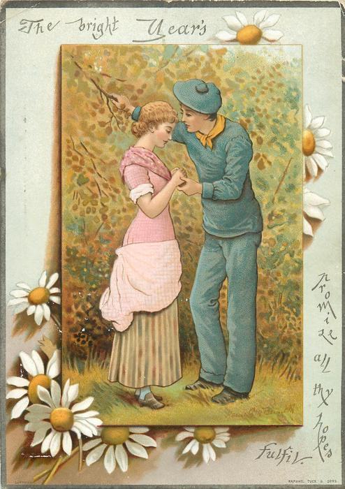 lady in pink dress with man in blue sailor type suit