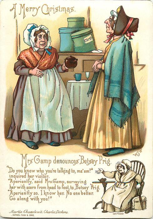 MRS. GAMP DENOUNCES BETSEY PRIG. -MARTIN CHUZZLEWIT