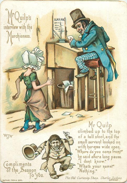 MR QUILP'S INTERVIEW WITH THE MARCHIONESS-THE OLD CURIOSITY SHOP