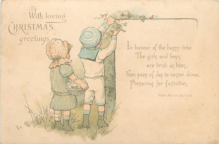 two children picking berries