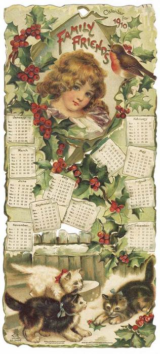 FAMILY FRIENDS CALENDAR FOR 1910