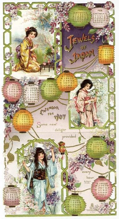 JEWELS OF JAPAN CALENDAR FOR 1907