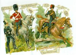 mounted soldiers
