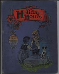 HOLIDAY HOURS,  two children and dog wave to ships