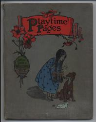 PLAYTIME PAGES girl with dog