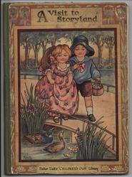 A VISIT TO STORYLAND two children walk towards ducks in pond