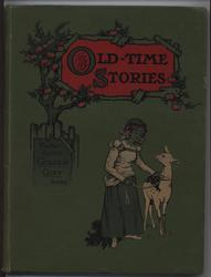 OLD-TIME STORIES FROM GRIMM AND ANDERSEN girl with deer on a string