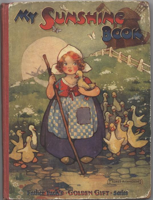 MY SUNSHINE BOOK little girl with walking stick surrounded by ducklings