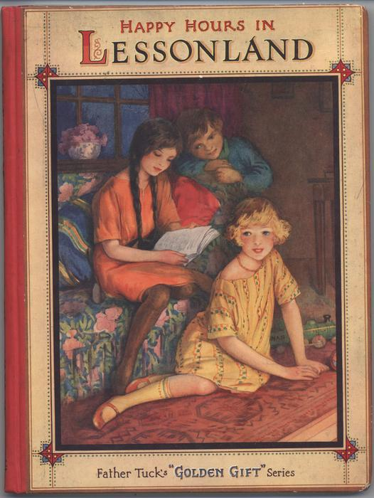 HAPPY HOURS IN LESSONLAND three children with book