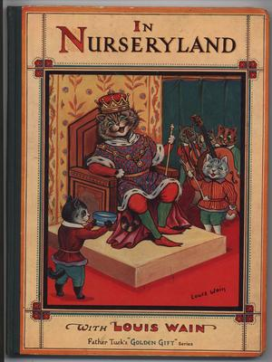 IN NURSERYLAND WITH LOUIS WAIN king cat attended by lesser cats