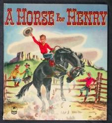 A HORSE FOR HENRY young boy on black bucking bronco