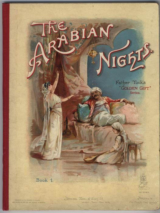 THE ARABIAN NIGHTS BOOK 1 prince lounges on daybed being entertained by two women
