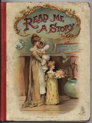 READ ME A STORY mother with two small girls