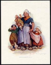 Dutch mother and her children