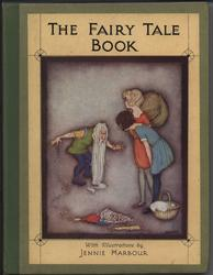 THE FAIRY TALE BOOK man with very long beard bows down before two young girls