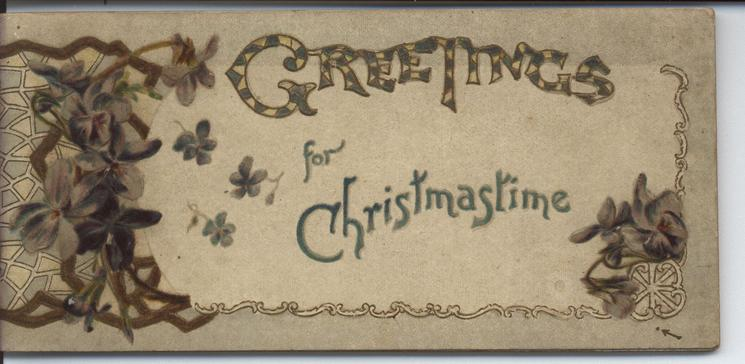 GREETINGS FOR CHRISTMASTIME