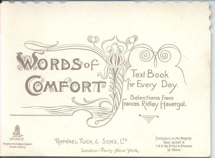 WORDS OF COMFORT TEXT BOOK