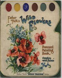 WILD FLOWERS POSTCARD PAINTING BOOK