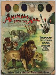 ANIMALS FROM THE ARK POSTCARD PAINTING BOOK