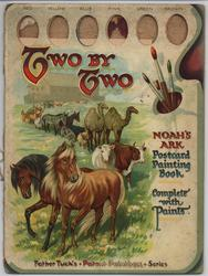 TWO BY TWO NOAH'S ARK POSTCARD PAINTING BOOK