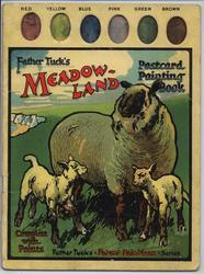 MEADOW-LAND POSTCARD PAINTING BOOK