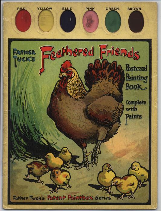 FEATHERED FRIENDS POSTCARD PAINTING BOOK