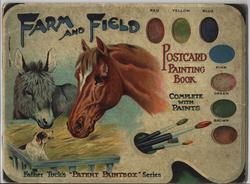 FARM AND FIELD POSTCARD PAINTING BOOK