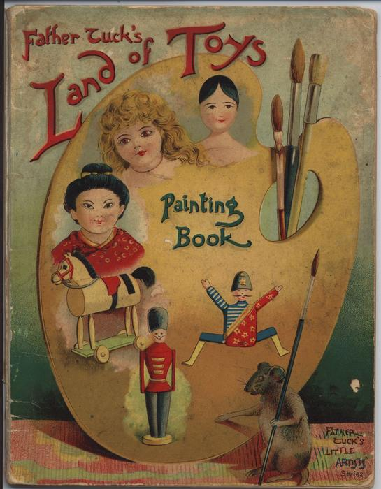 FATHER TUCK'S LAND OF TOYS PAINTING BOOK