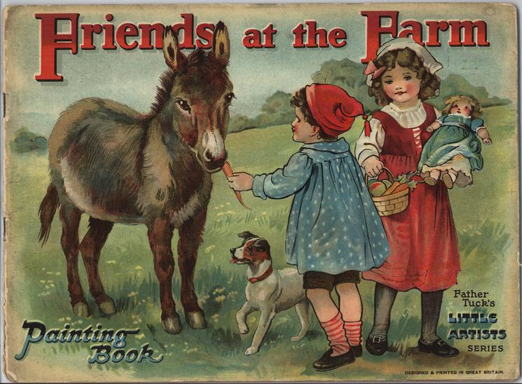 FRIENDS AT THE FARM PAINTING BOOK