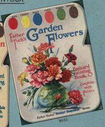 FATHER TUCK'S GARDEN FLOWERS POSTCARD PAINTING BOOK