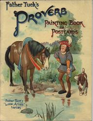 FATHER TUCK'S PROVERB PAINTING BOOK OF POSTCARDS