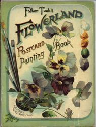 FATHER TUCK'S FLOWERLAND POSTCARD PAINTING BOOK