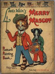 LIOUS WAIN'S MERRY MASCOT POSTCARD PAINTING BOOK