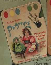PLAYTIME POSTCARD PAINTING BOOK